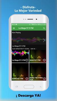 La Mega 97.9 New York Radio 97.9 screenshot 1