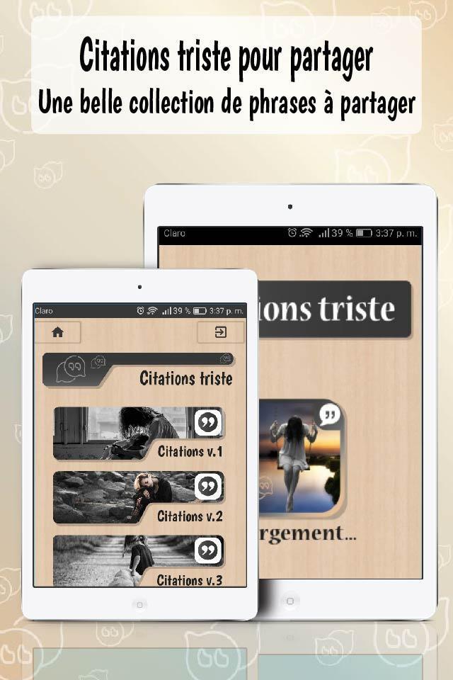 Citations Triste Gratuites Et Message De Tristesse For