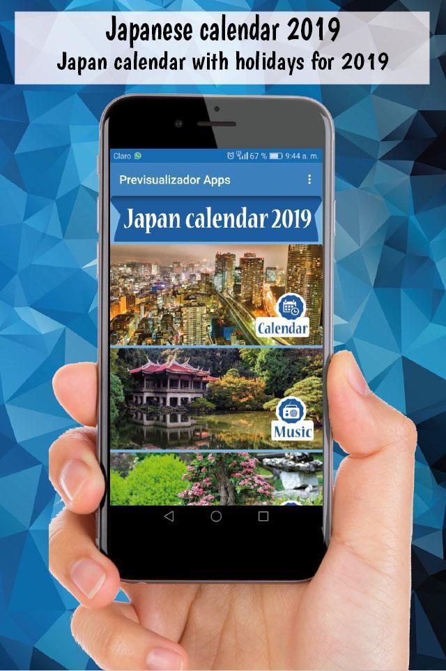 Japanese calendar 2019, japan calendar holidays for Android