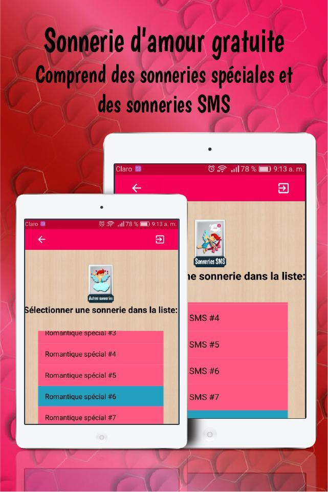 Sonnerie Damour Gratuite Sonnerie Sms Damour For Android