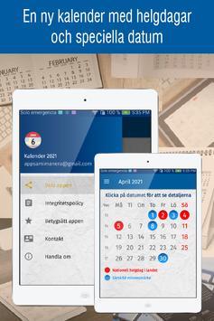 svensk kalender 2021 med svenska helgdagar screenshot 5