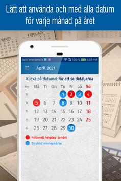 svensk kalender 2021 med svenska helgdagar screenshot 1