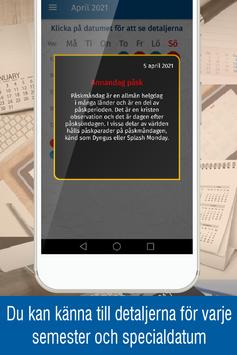 svensk kalender 2021 med svenska helgdagar screenshot 2