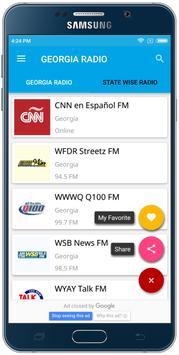 Georgia Radio-USA FM Stations poster