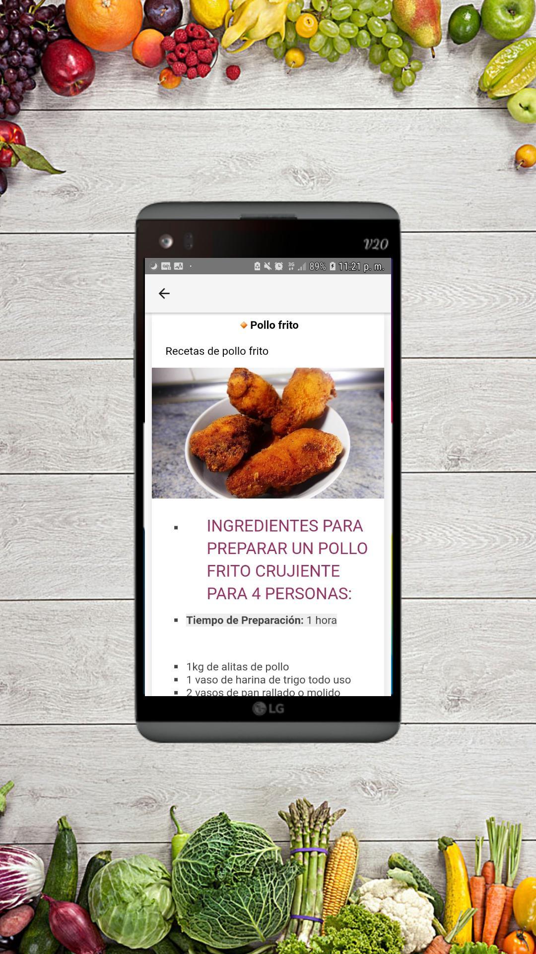 Recetas De Pollo Fáciles Rápidas Y Gratis For Android Apk