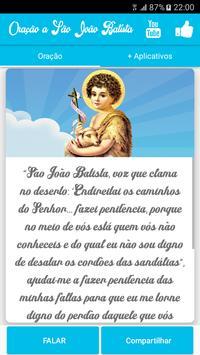 Oração a São João Batista poster