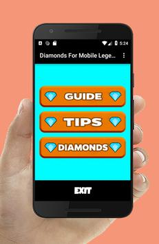 Diamonds For Mobile Legends Tips captura de pantalla 1