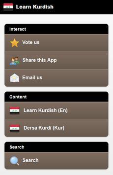 Learn Kurdish poster