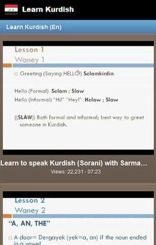 Learn Kurdish screenshot 1