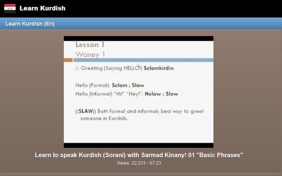 Learn Kurdish screenshot 4