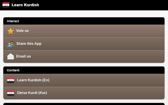 Learn Kurdish screenshot 6