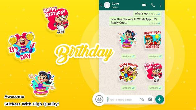 Birthday stickers for whatsapp poster