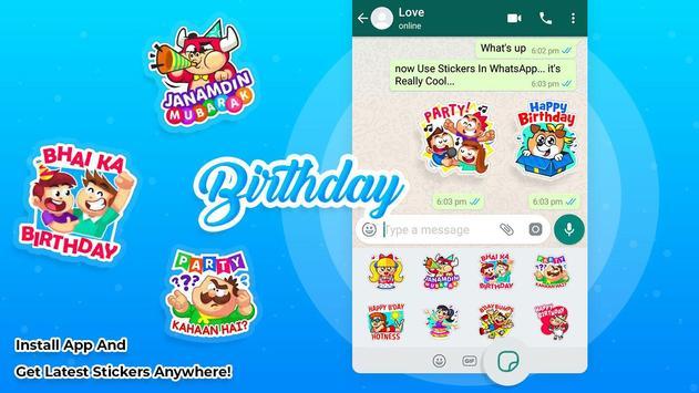 Birthday stickers for whatsapp screenshot 1