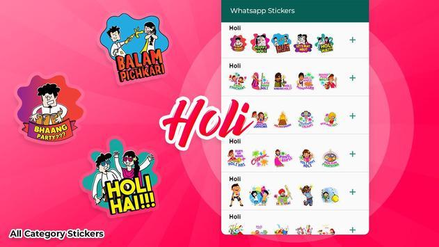 Holi stickers for WAStickersapps screenshot 1