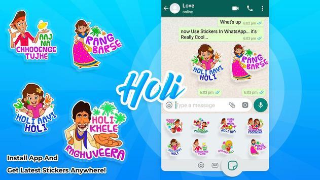 Holi stickers for WAStickersapps screenshot 2
