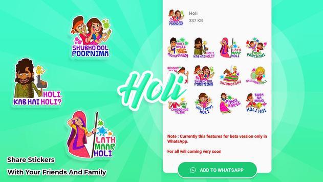 Holi stickers for WAStickersapps screenshot 3