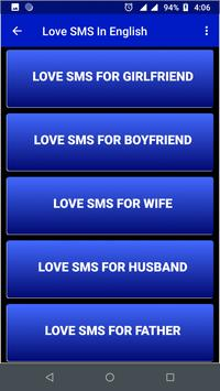 Love SMS In English screenshot 2