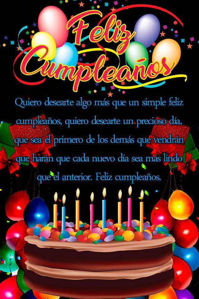 Dedicatorias De Feliz Cumpleaños Bonitas Gratis For Android