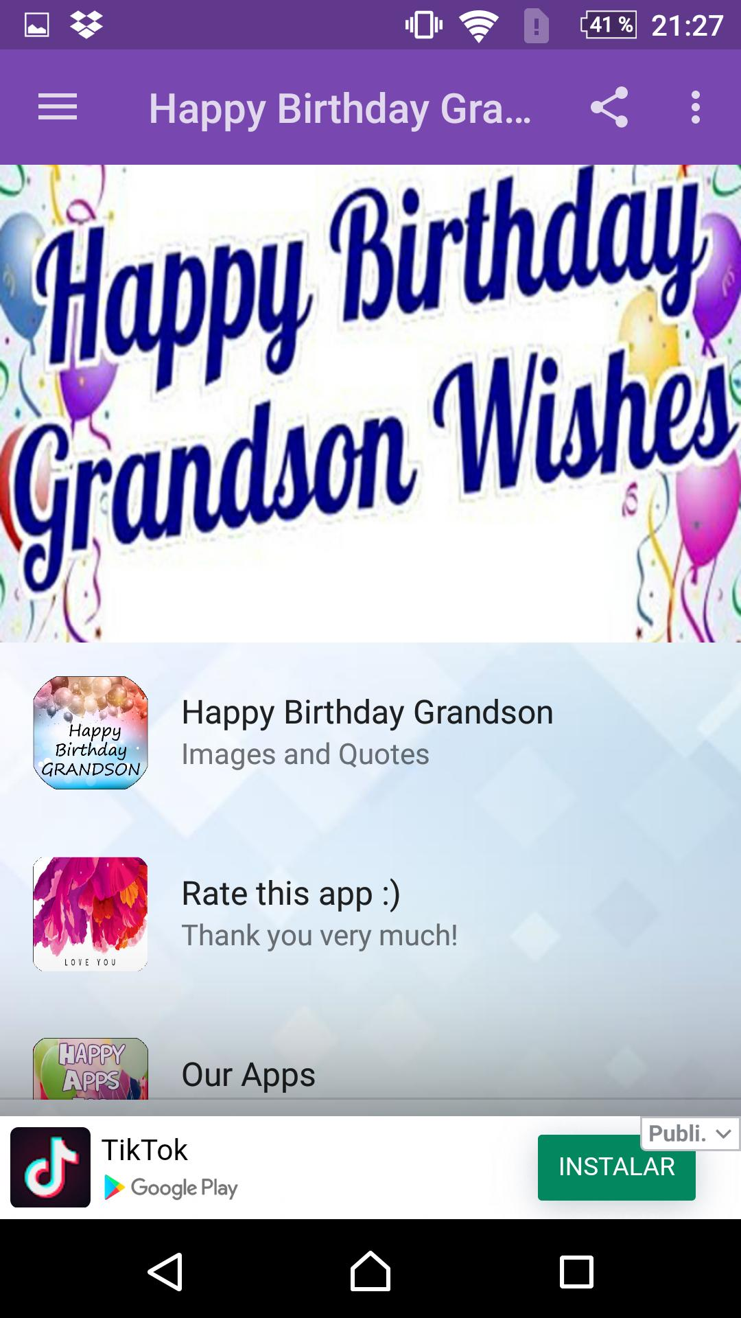 Happy Birthday Grandson For Android Apk Download