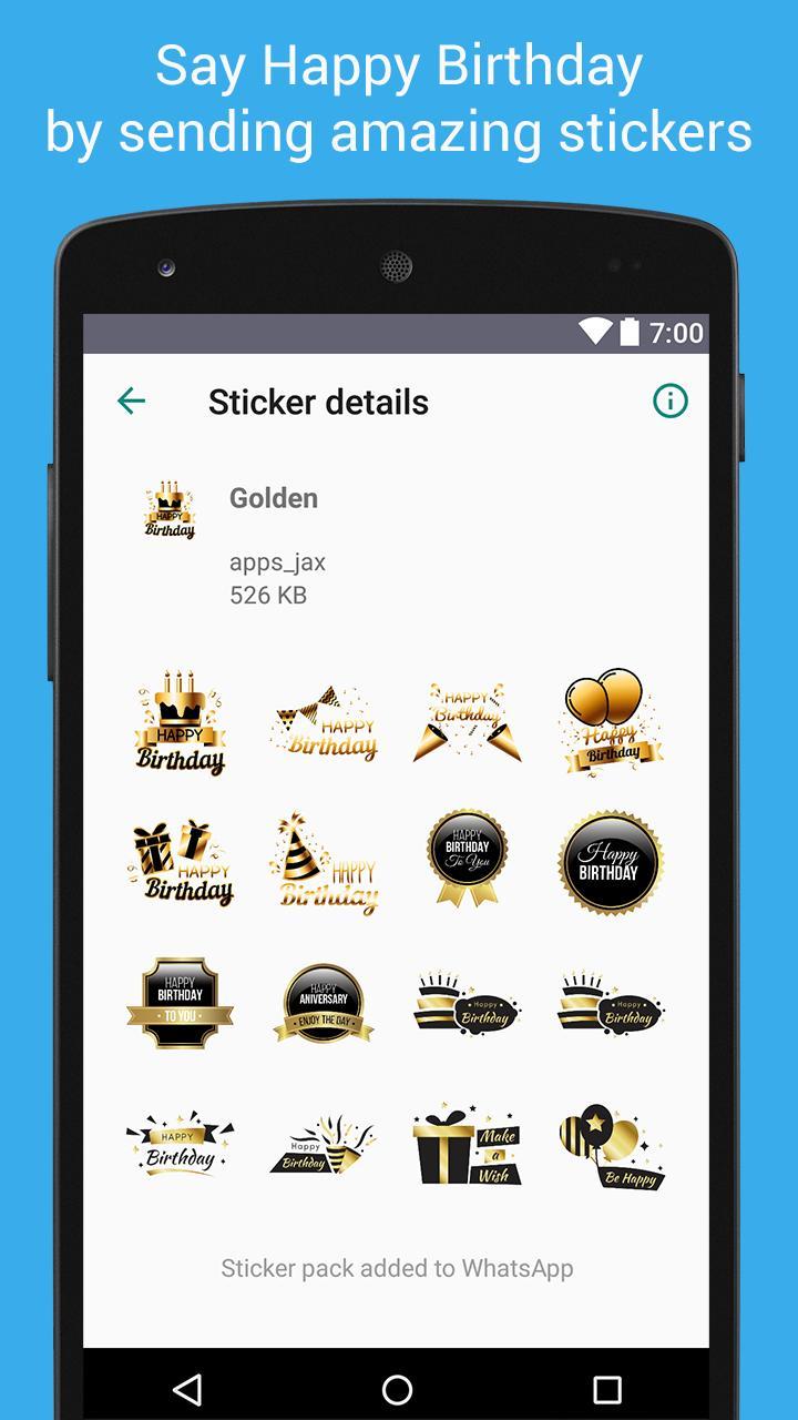 Whatsapp Verjaardag.Verjaardag Stickers Voor Whatsapp For Android Apk Download