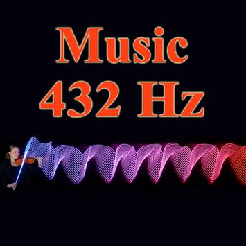 frequency 432 hz - music poster