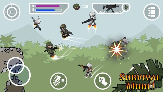 Doodle Army 2 : Mini Militia स्क्रीनशॉट 1