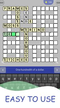 English Crossword puzzle poster