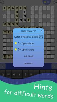 English Crossword puzzle screenshot 3
