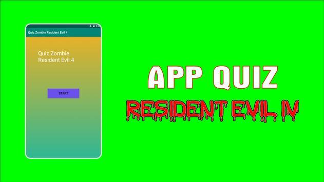 APP Quiz Game Resident Evil IV poster