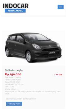 Indocar - Rental Mobil screenshot 3
