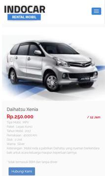 Indocar - Rental Mobil screenshot 2