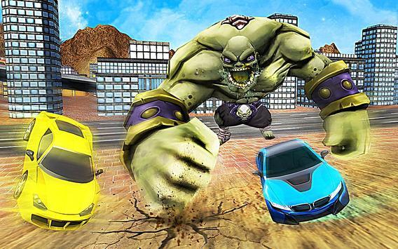 Superhero Incredible Monster Hero City Battle Cartaz