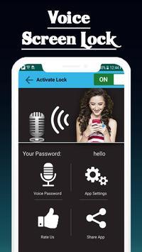 Voice lock Screen: Voice Screen Locker 2020 poster