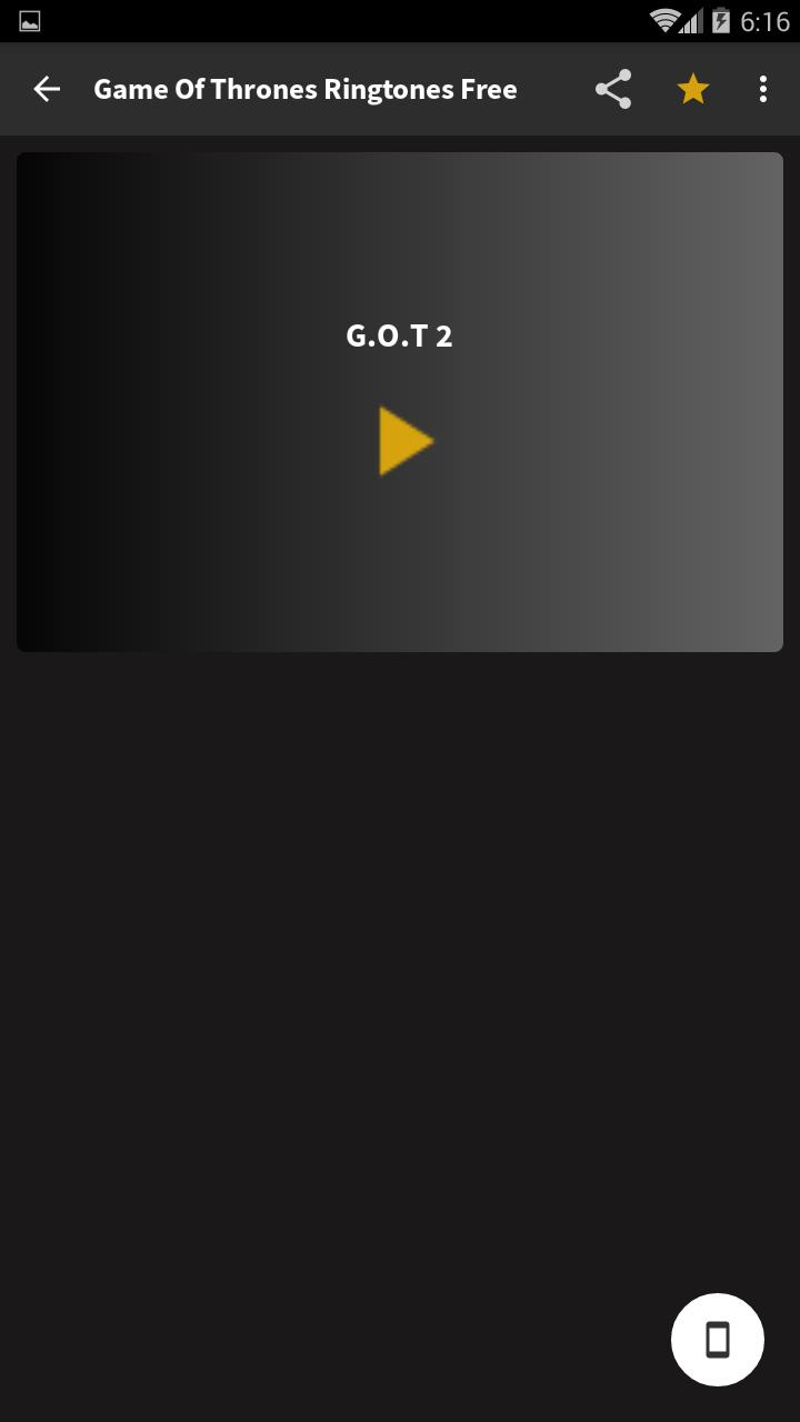 Game of thrones ringtone for android.