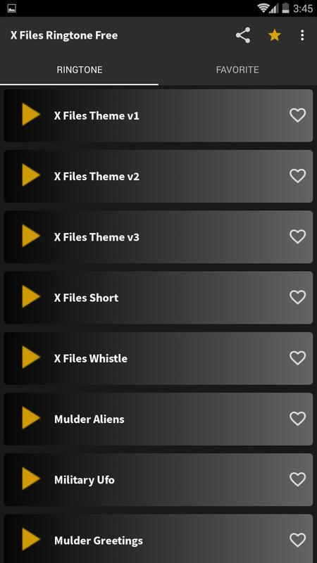 X files ringtone free for android apk download.