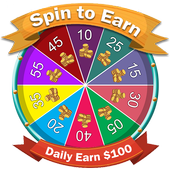 Spin&Earn Money Daily $100 icon