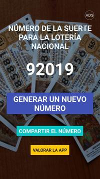 Número de la suerte para la Lotería Nacional screenshot 2