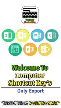 Computer shortcut key poster