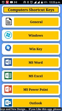 Computer shortcut key screenshot 1