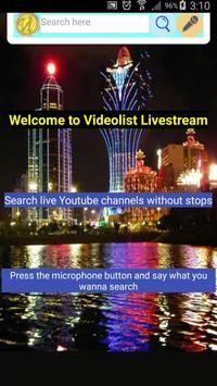 Videolist Livestream - Free Streaming App poster