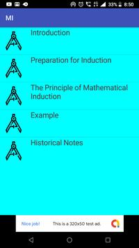 Mathematical Induction poster