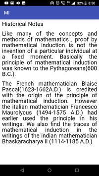 Mathematical Induction screenshot 1