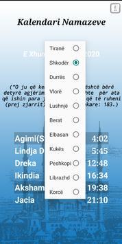 Kalendari Namazeve screenshot 1