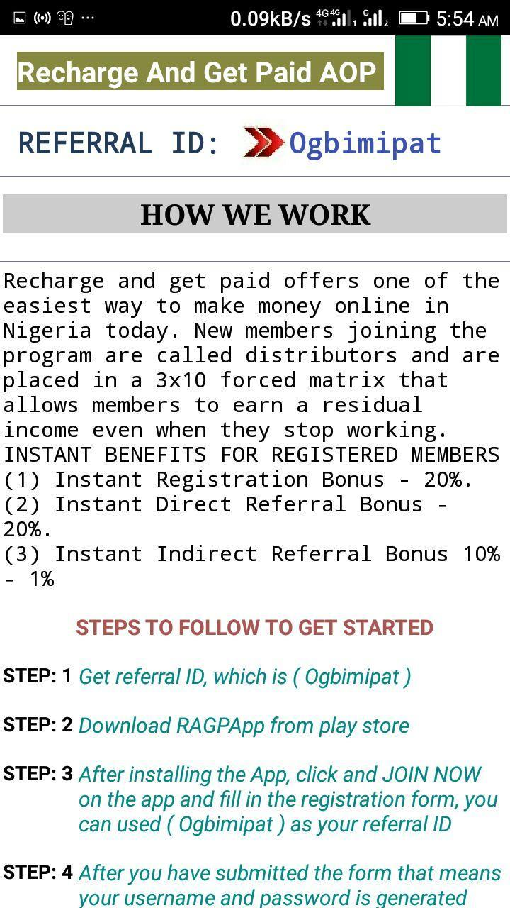 Recharge And Get Paid Nig  AOP for Android - APK Download