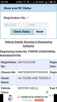 RTO Vehicle Information screenshot 2