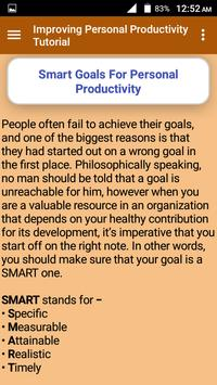 Improving Personal Productivity Tutorial screenshot 5