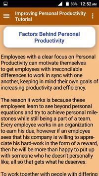 Improving Personal Productivity Tutorial screenshot 6
