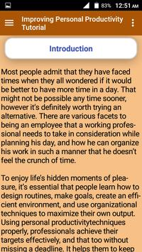 Improving Personal Productivity Tutorial screenshot 2