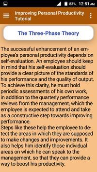 Improving Personal Productivity Tutorial screenshot 3