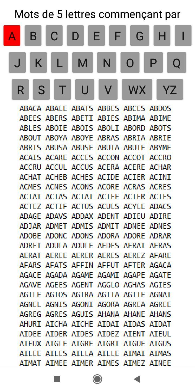 Mots Scrabble De 5 Lettres For Android Apk Download